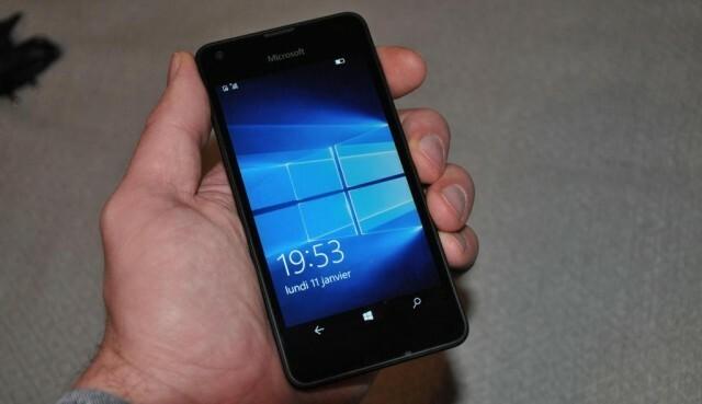 Microsoft Lumia 550 Face Allumé