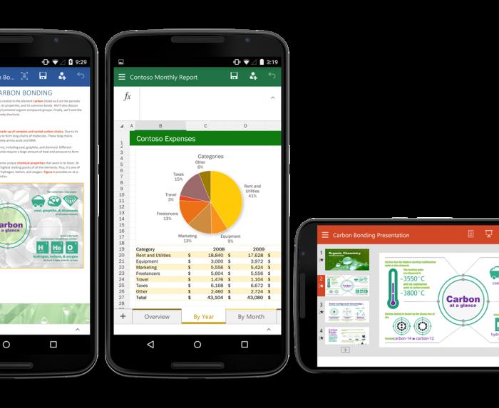 [App]  Microsoft Word, Excel et PowerPoint pour Android se mettent à jour