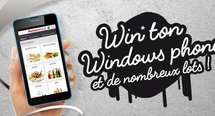 [Concours]  «Win ton Windows Phone» avec Auchan Drive