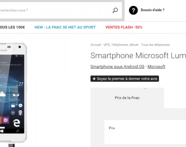 La Fnac officialise le Lumia 650