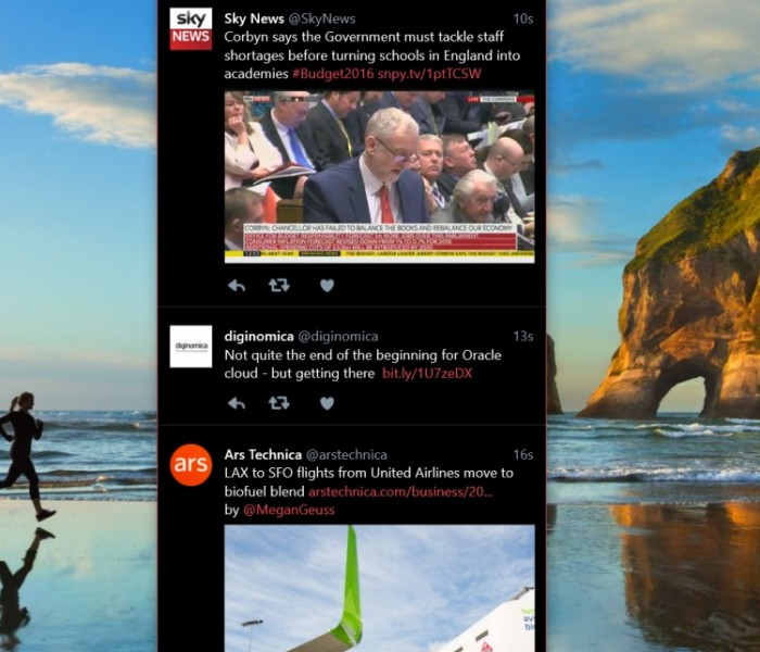 [App]  Twitter pour Windows 10 désormais disponible sur Phone !