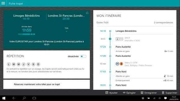 [App]  L'application SNCF devient universelle pour Windows 10