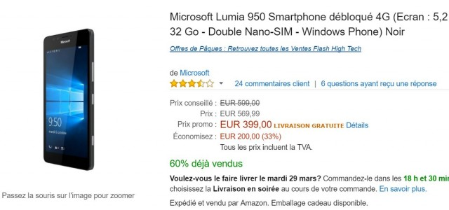 lumia 950 promo amazon