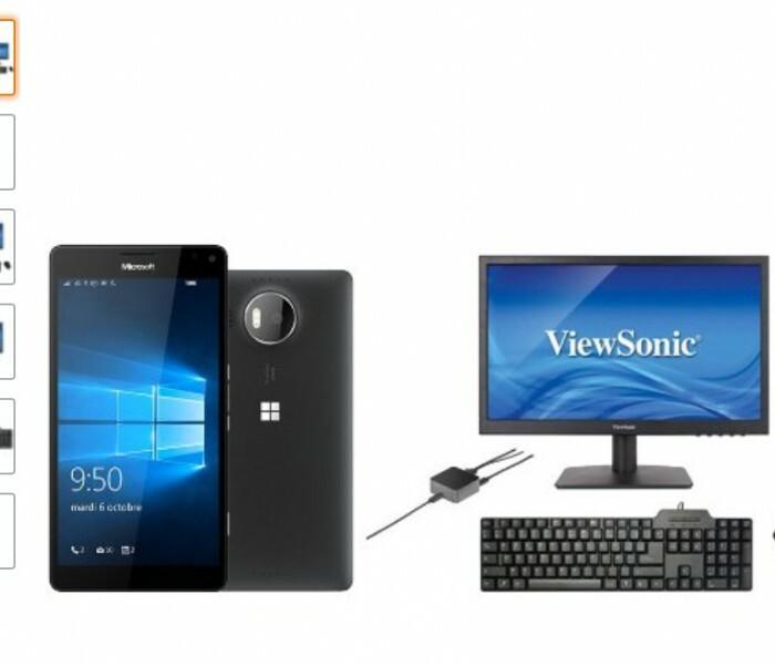 [Offre]  Pack Microsoft Lumia 950 XL + Continuum HD-500 + Ecran 19″ + Clavier AZERTY + Souris