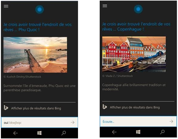Cortana Vacances