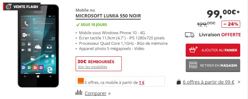 lumia550Darty