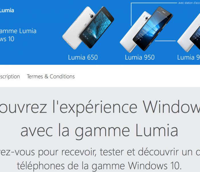 [Concours]  Testez un Lumia sous Windows 10 gratuitement