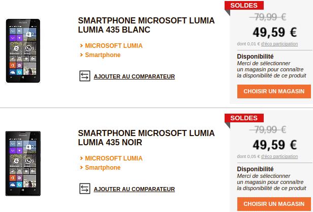 Microsoft Lumia 435 E Leclerc SOLDES