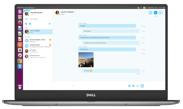 Skype Linux Chat