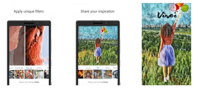 App Vinci Prisma Windows Phone Mobile