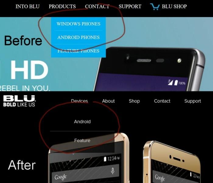 Lumia c'est fini, chez BLU aussi…
