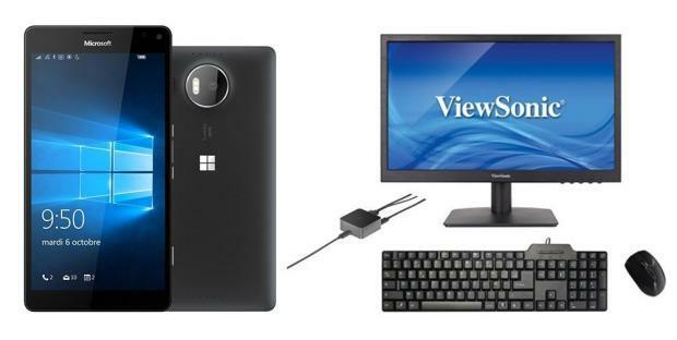 [Vente Flash]  Lumia 950 XL avec 1 écran, 1 souris, 1 clavier et la station HD-500 pour seulement 399€ !