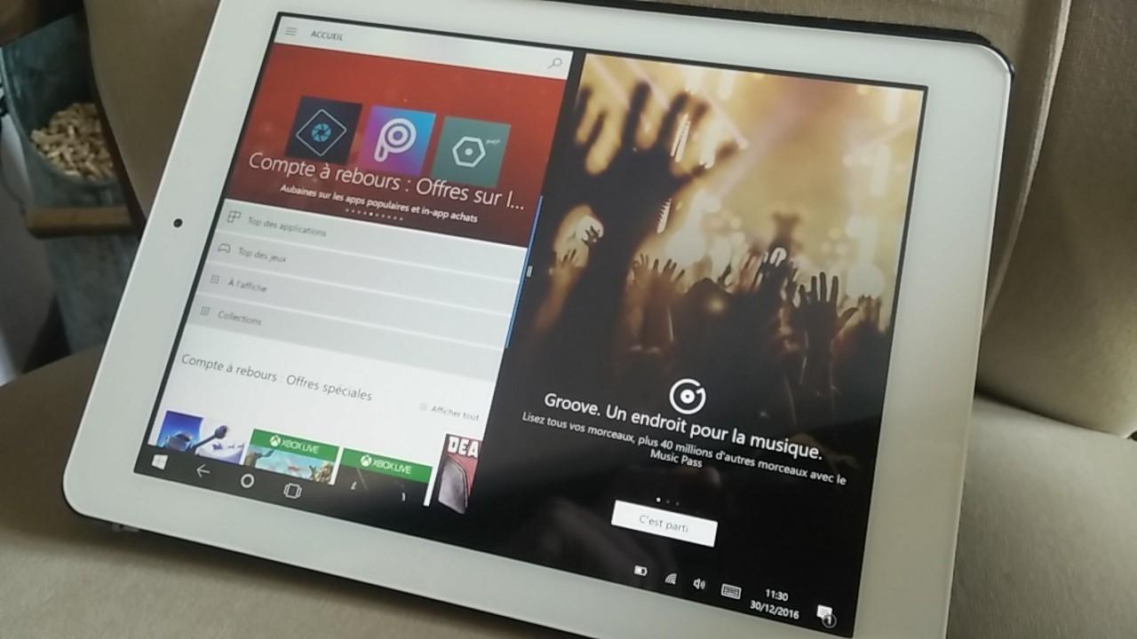 Teclast X98 Plus II écran partagé sous Windows 10 - Nokians