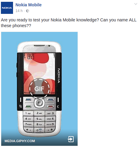 Nokia Mobile Jeu Facebook