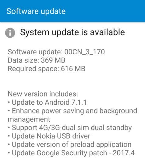 Nokia 6 Android Update