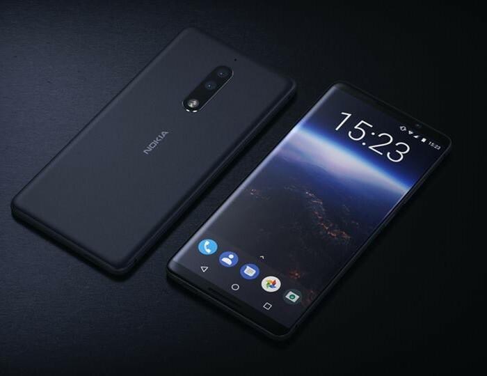Concept du Nokia 9 avec un écran sans bordures