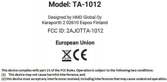 Nokia 9 TA-1012 FCC