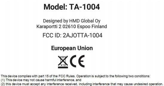 Nokia TA-1004 FCC