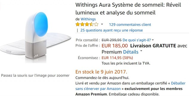 amazon withings sommeil