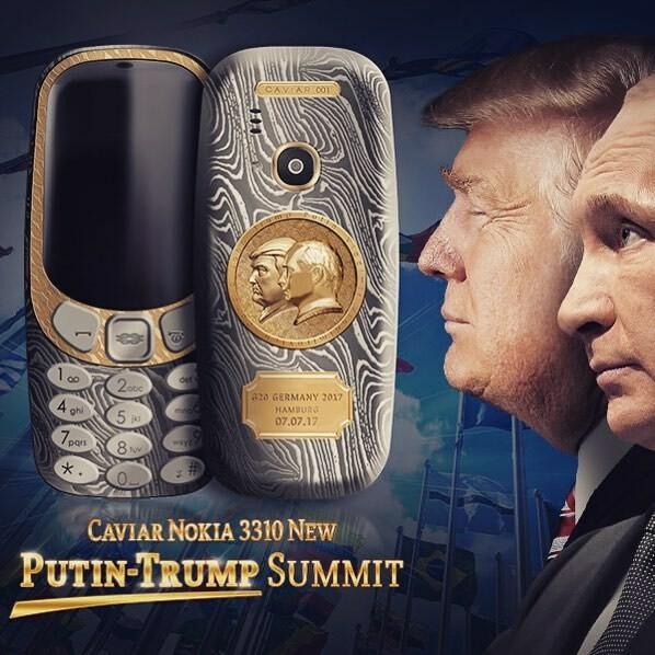 Un Nokia 3310 à l'effigie de Trump & Poutine !