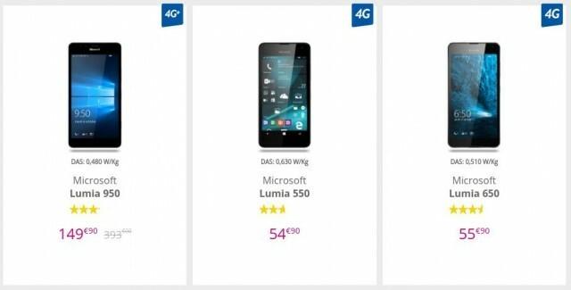 Lumia 550 650 950 Bouygues