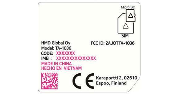 Nokia 3310 3G FCC CE