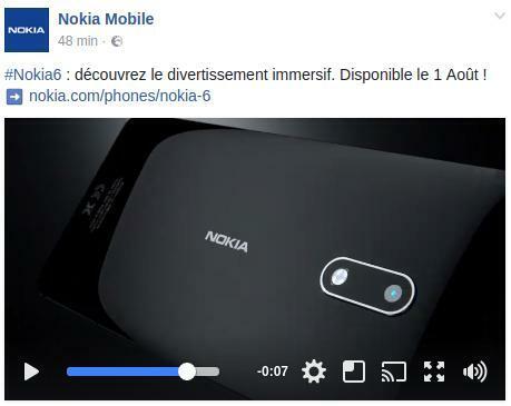 nokia mobile france confirme la disponibilit du nokia 6. Black Bedroom Furniture Sets. Home Design Ideas