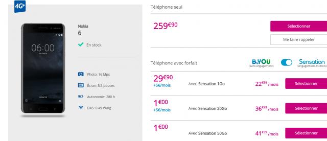Nokia 6 Bouygues