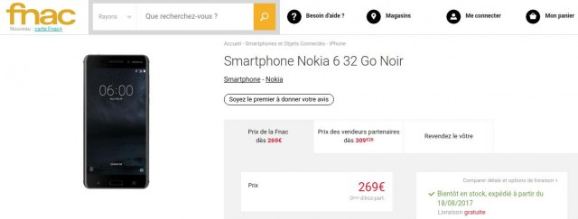 Nokia 6 FNAC