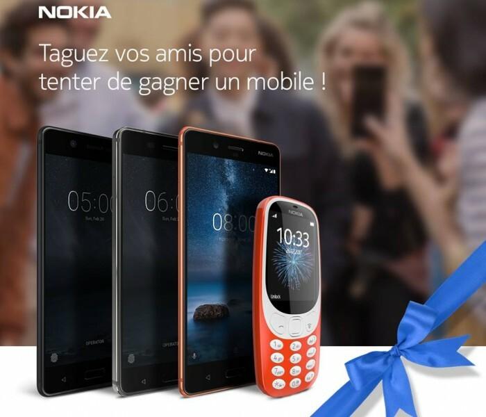 [Concours]  Tentez de gagner un Nokia 5, 6, 8 ou 3310 avec Nokia Mobile France