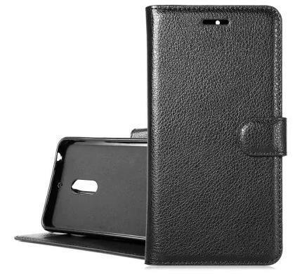 Nokia 6 étui cuir noir
