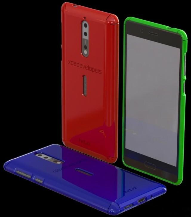 Nokia 8 coque 3D