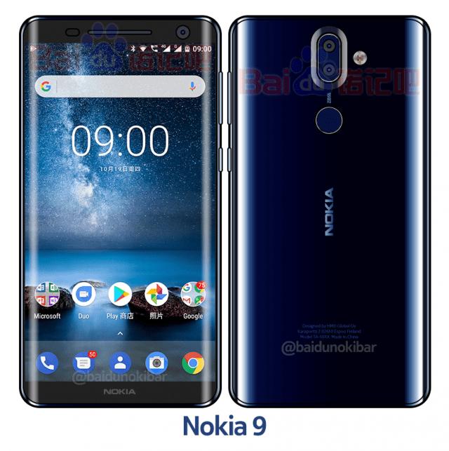 Nokia 9 bleu