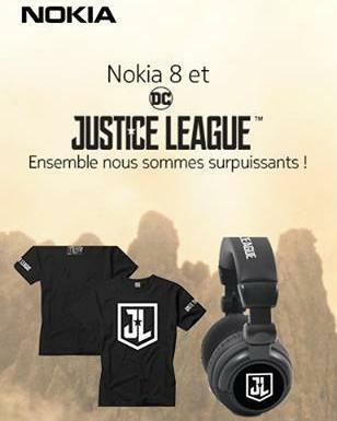 [Concours]  Tentez de gagner un pack collector et des places de cinéma avec Nokia Mobile France et le film Justice League