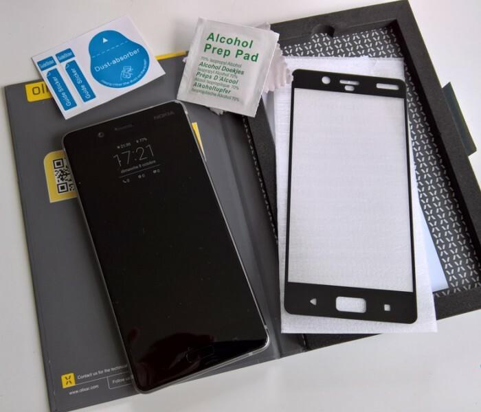 [Test]  La protection d'écran Nokia 8 Olixar en verre trempé