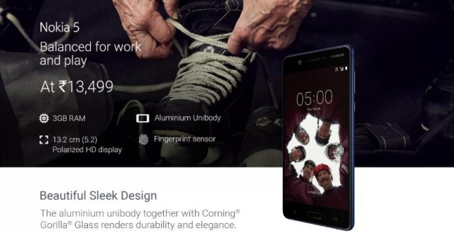 Nokia 5 3GB India