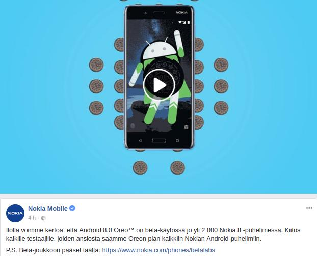 Nokia 8 Android Oreo Beta Labs
