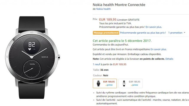 nokia steeel hr amazon