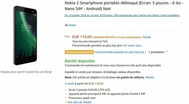 Nokia 2 Amazon
