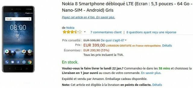 Nokia 8 gris amazon