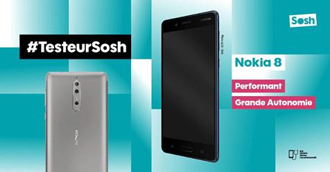 Testeur Sosh Nokia 8