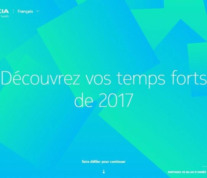 Découvrez votre bilan de l'année 2017 et celui de la communauté Nokia Health