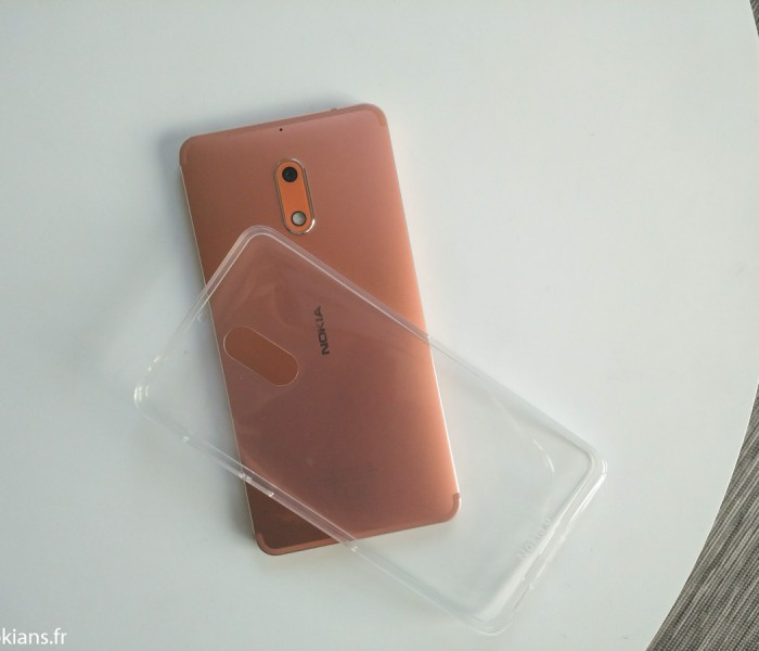Présentation de la coque officielle Nokia 6 Crystal Silicone