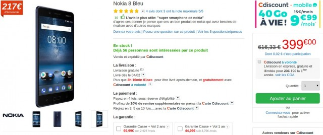 Nokia 8 CDiscount