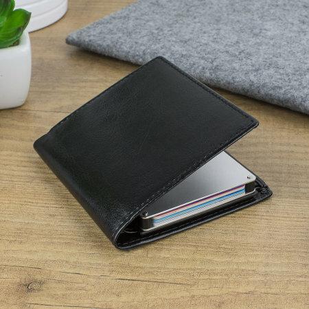 Présentation d'un portefeuille RFID simili cuir