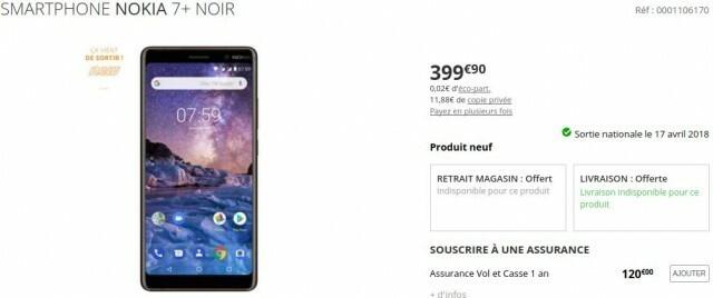 Nokia 7 Plus Boulanger