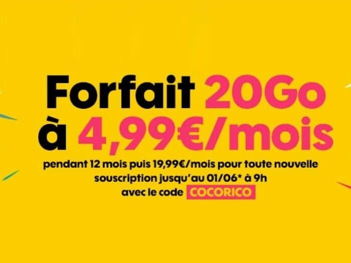 [Promo]  Forfait Sosh 20Go à 4€99