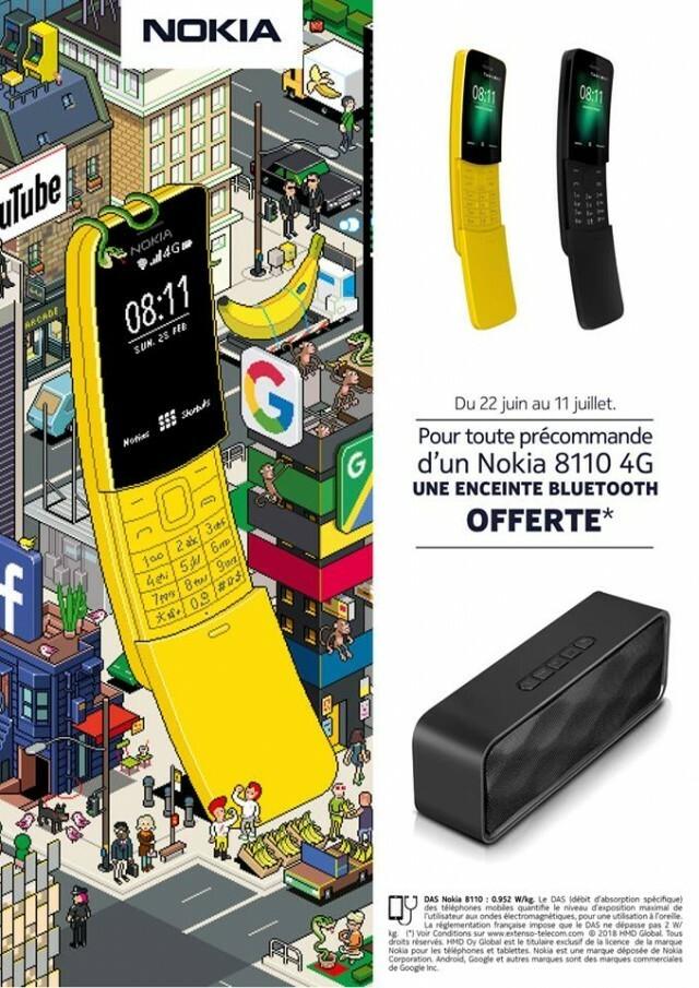 Nokia 8110 4G PRECOMMANDE ENCEINTE