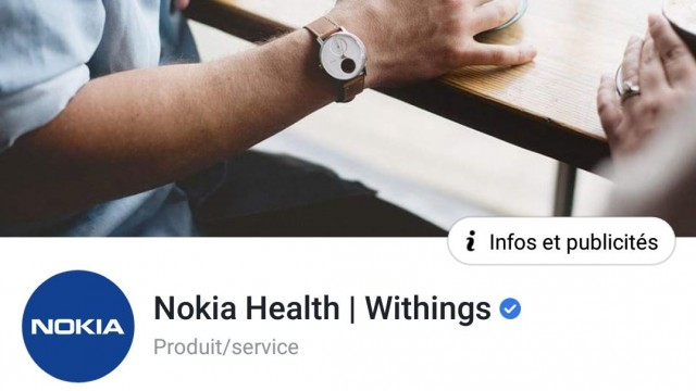 Nokia Health Withings Facebook