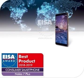 Nokia 7 plus : meilleur smartphone grand public 2018 – 2019 selon l'EISA